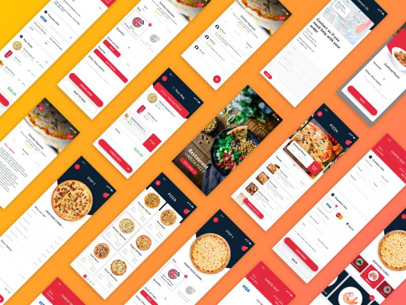 Daily UI - Cheeza Pizza App ui interface sketch daily ui