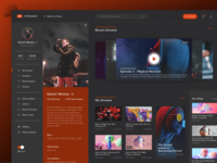 Daily UI - Day #006 - User Profile - Dark Theme