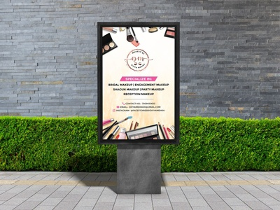 Portrait Billboard Design For makeup Artist