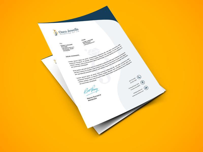 Letter Head Design graphic design branding