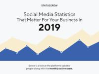 Social Media Statistics Infographics