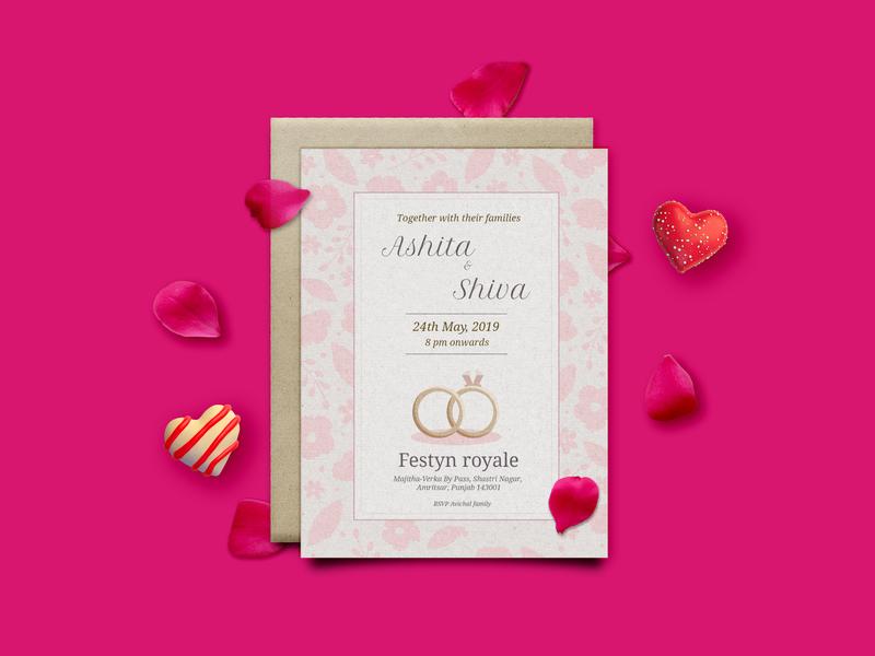 Invitation Card Design media printdesign print typography design graphic design branding