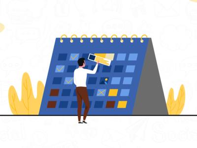 How To Create A Social Media Content Calendar illustration branding