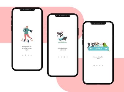Splash screen Adopt Us App