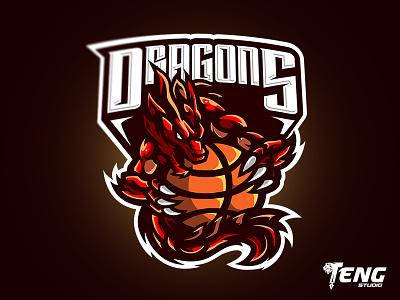 DRAGONS LOGO MASCOT VECTOR ESPORT/SPORT overwatch fortnite brand game branding design sport esport character logo mascot