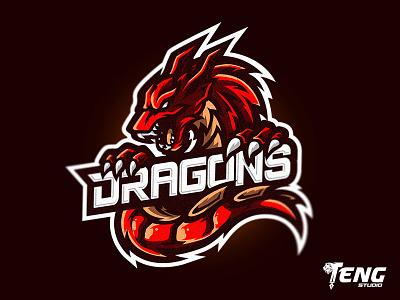 DRAGONS LONGUET23 LOGO MASCOT VECTOR ESPORT/SPORT team overwatch fortnite brand game branding design sport esport character logo mascot