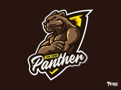 THE DAD PANTHER LOGO MASCOT VECTOR ESPORT/SPORT team overwatch fortnite brand game branding design sport esport character logo mascot