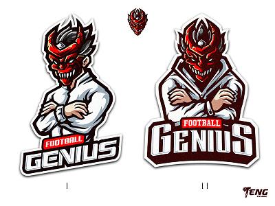 FOOTBALL GENIUS LOGO overwatch fortnite brand game branding design sport esport character logo mascot