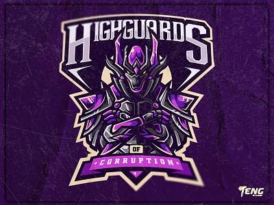 HIGHGUARDS OF CORRUPTION overwatch fortnite brand game branding design sport esport character logo mascot