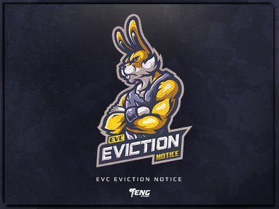 EVC ENVICTION illustration logo team logo tournament game gaming guild clan team esports esport bunny logo mascot rabbit bunny