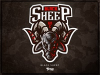 Black Sheep vector illustration brand game branding design sport esport character logo mascot