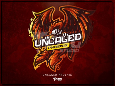 UNCAGED PHOENIX overwatch fortnite brand game branding design sport esport character logo mascot