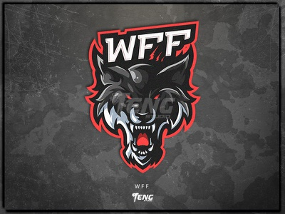 WFF fortnite brand game branding design sport esport character logo mascot