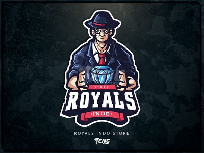 ROYALS INDO overwatch fortnite brand game branding design sport esport character logo mascot