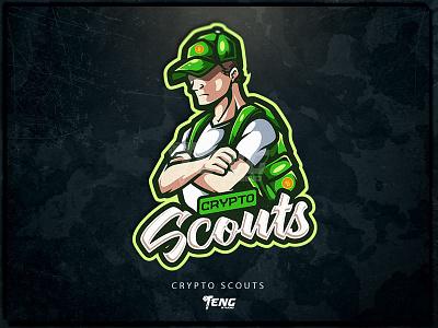 Crypto Scouts sport esport character logo mascot branding