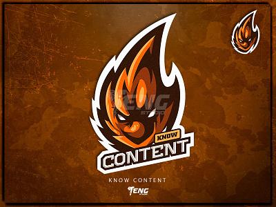 know content fire mascot logo fortnite brand game branding design sport esport character logo mascot