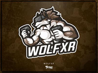 WOLFXR fortnite brand game branding design sport esport character logo mascot