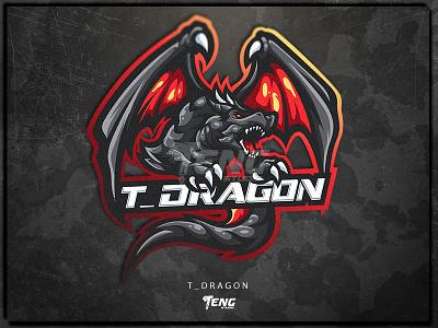 T_DRAGON CUSTOM MASCOT LOGO fortnite brand game branding design sport esport character logo mascot