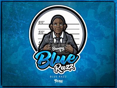 Vape Series 12 Blue Razz branding design sport esport character logo mascot