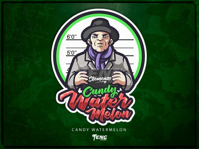 vape series 14 Candy Watermelon vape branding design sport esport character logo mascot