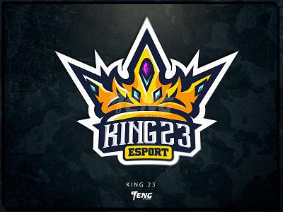 KING23 ESPORT fortnite brand game branding design sport logo esport character mascot