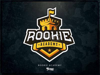 Rookie Academy branding design sport esport character logo mascot