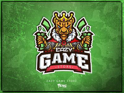 EAZY GAME STORE | CHEETAH MASCOT illustration branding design sport esport logo character mascot