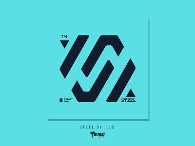 STEEL SHIELD vector illustration branding design sport esport character logo mascot
