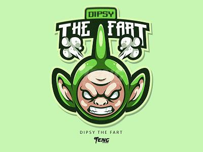 Dipsy The Fart vector illustration branding design sport esport character logo mascot