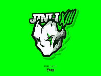 JINLI MASK illustration branding design sport esport character mascot