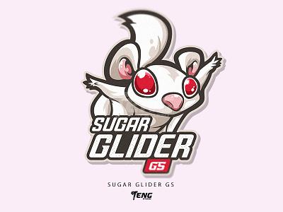 SUGAR GLIDER GS vector illustration branding design sport esport logo character mascot