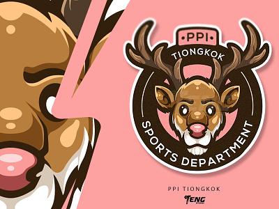 PPI TIONGKOK ui vector illustration branding design sport esport logo character mascot