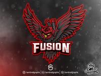 FUSION Logo Esport | Owl Ninja Assassin Mascot Logo Sport