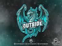 Outside Logo Esport | Dragon Mascot Logo Sport