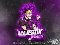 MAJESTIK Logo Esport   Jester Mascot Logo Sport