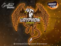 Gryphon Logo Esport | Griffin Mascot Logo Sport