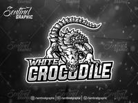 WHITE CROCODILE Logo Esport Mascot Team Sport Game