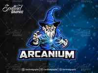 Aracanium Logo Esport Mascot Team Sport Game