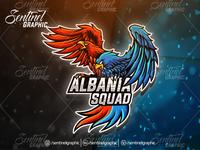 Albania Squad Eagle Logo Esport Mascot Team Sport Game