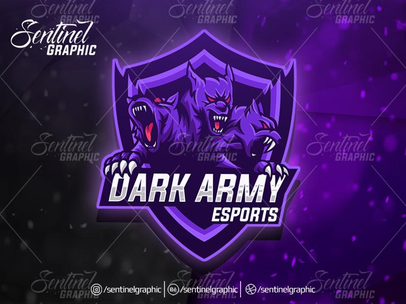 DARK ARMY Logo Esport Mascot Team Sport Game by Teng Studio