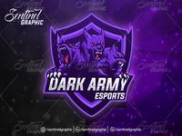 DARK ARMY Logo Esport Mascot Team Sport Game
