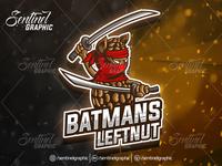Peanut Ninja Logo Esport Mascot Team Sport Game