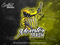Monster Trash Logo Esport Mascot Team Sport Game