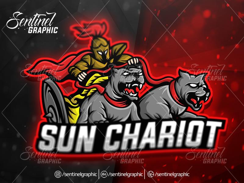 Spartan Pitbull Logo Esport Mascot Team Sport Game by Teng