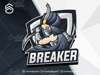BREAKER Logo Esport Mascot Team Sport Game