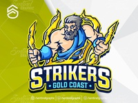 STRIKERS Logo Esport Mascot Team Sport Game