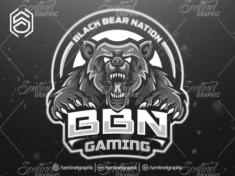 bbn gaming clan logo esport mascot team sport game by teng studio