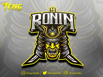 9RONIN Club Logo Esport Mascot Team Sport Game