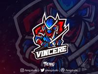 Vincere Ninja Club Logo Esport Mascot Team Sport Game