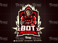 xBOTx Robot Logo Esport Mascot Team Sport Game